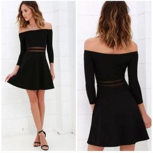 "Lulu's 🌿"" Yes To The Mesh "" Skater Dress Black"